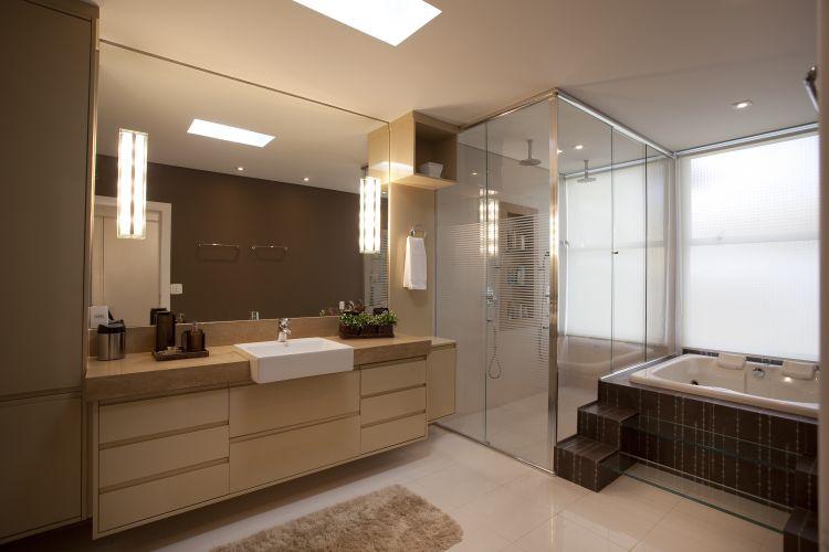 Inspirese em 27 projetos para banheiros de sonho  Casa e Decoração  UOL Mu -> Armario Para Banheiro Sao Jorge