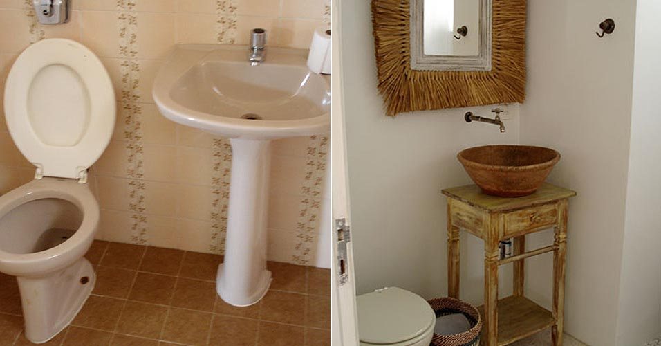 Gabinete Para Banheiro Reformar banheiro antigo -> Decorar Banheiro Antigo