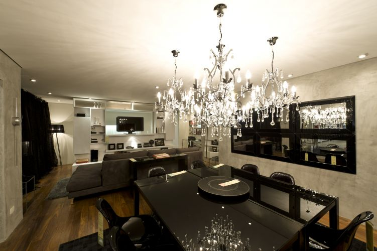 sala de jantar do loft black tie ambiente de maurício