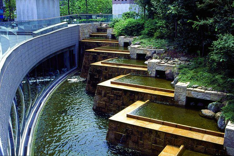 mobiliario jardim area:Exemplo de jardim contemporâneo, o Yoro Tenmei Park, na cidade de