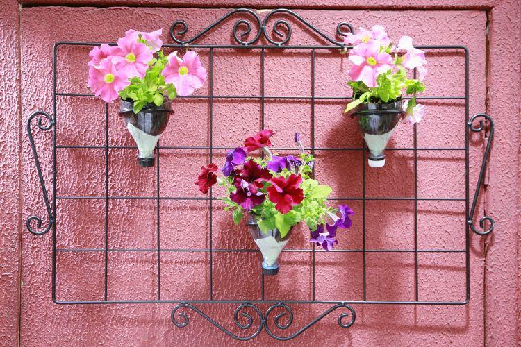Reciclagem aproveite as garrafas PET e faça um jardim vertical