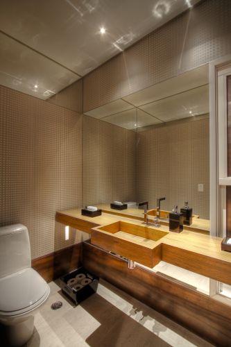 decoracao de lavabos grandes:Lavabos: veja projetos charmosos para esses pequenos espaços – Casa e