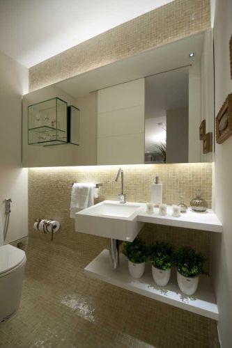 decoracao no lavabo:Lavabos: veja projetos charmosos para esses pequenos espaços – Casa e