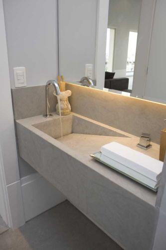 uol decoracao lavabo:Lavabo do arquiteto Leonardo Junqueira. São 2,67 m². O piso é a