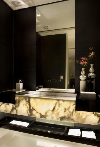 uol decoracao lavabo:foi utilizado para fazer a bancada e esculpir a cuba deste lavabo