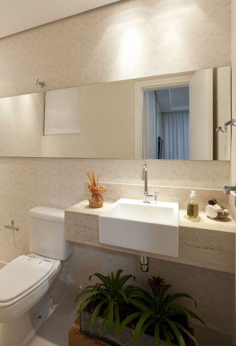 Lavabos veja projetos charmosos para esses pequenos espaços  Casa e Decoraç -> Cuba Para Banheiro De Semi Encaixe Branca Icasa
