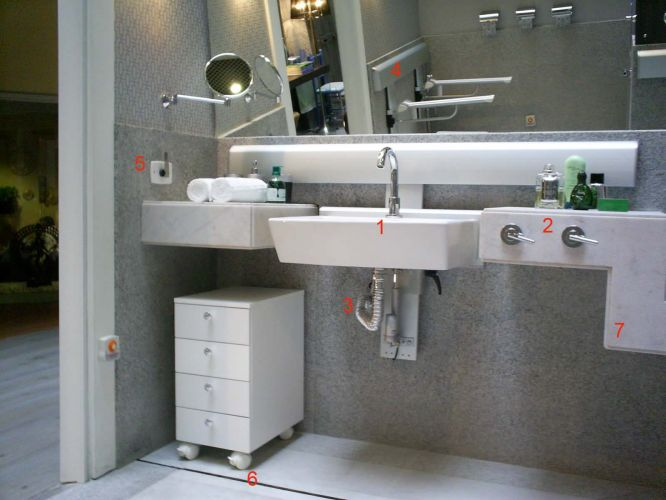 Acessibilidade Mostra traz ambientes inclusivos  Casa e Decoração  UOL Mulher -> Pia Para Banheiro Adaptado