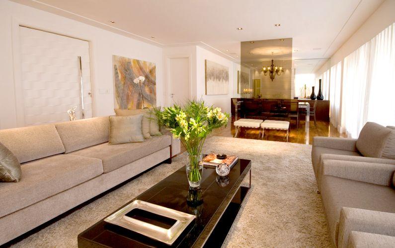 Como Montar Uma Sala De Estar Moderna ~ jogo de sofá, duas poltronas e dois bancos Barcelona formam um
