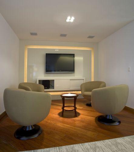 Sala De Tv Projetada ~ Home theater ideias de projetos confortáveis para assistir à TV
