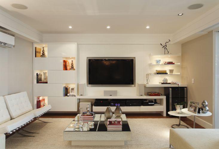 de projetos confortáveis para assistir à TV - Casa e Decoração