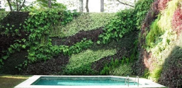 Jardim com piscina com projeto de paisagismo de Gilberto Elkis