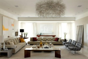 Em apartamento de 600 m², projeto de interiores imprime beleza e atmosfera acolhedora - Alain Brugier / Divulgação