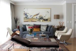 Contrastes em equilíbrio definem o estilo contemporâneo de apartamento de 180 m² - Alain Brugier / Divulgação