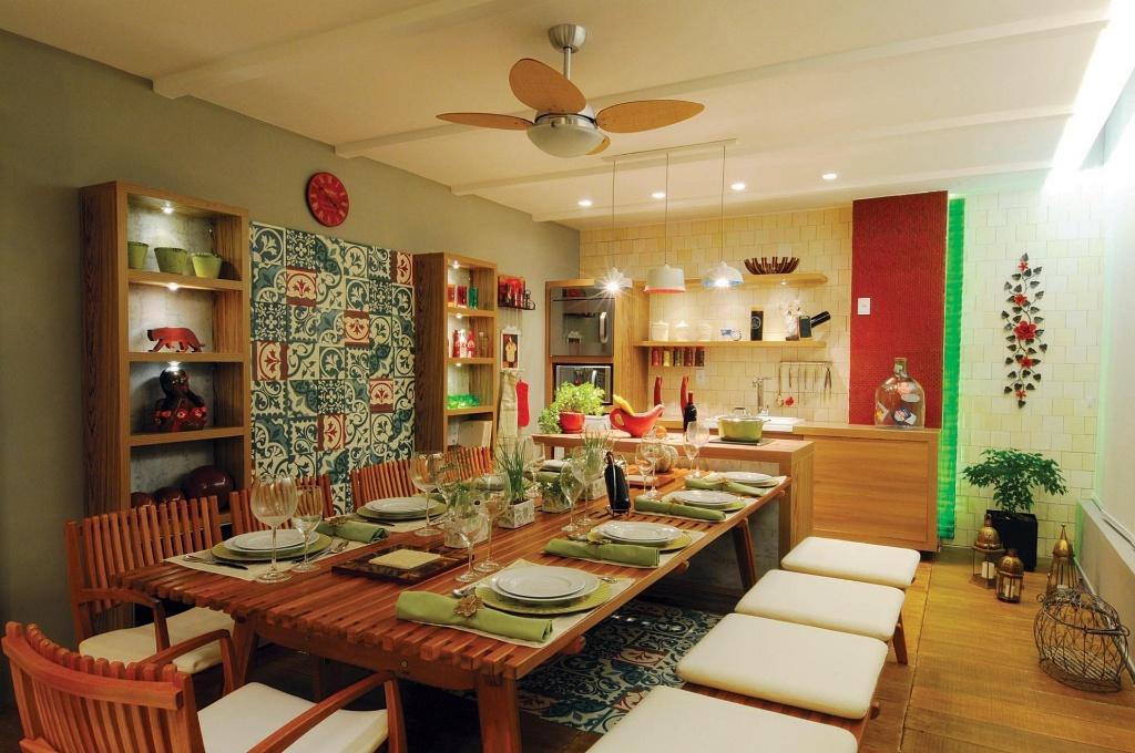 Varanda do Chef, ambiente da 1ª Casa Cor Amazonas, projetado pela designer de interiores Luciana Moreno