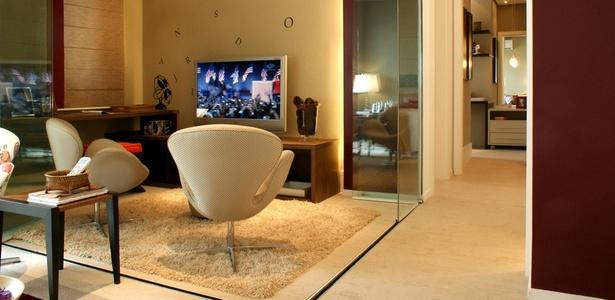 ideias e projetos de decoracao de interiores:Projeto de interiores expõe para compradores as possibilidades de