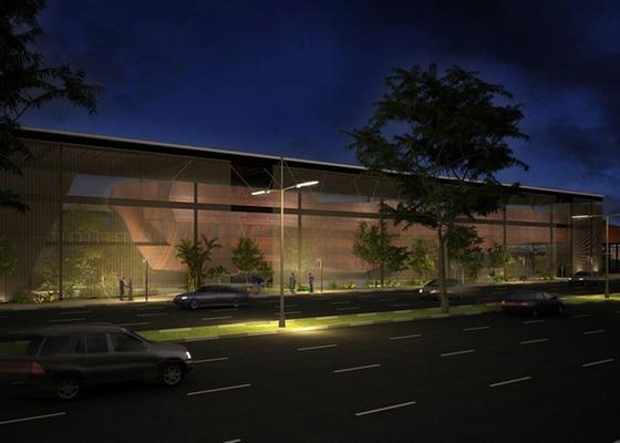 Perspectiva do Instituto Cultural e Educacional - Museu do Aço, projetado pelo escritório dr arquitetura FGMF, para ser construído na zona leste de São Paulo