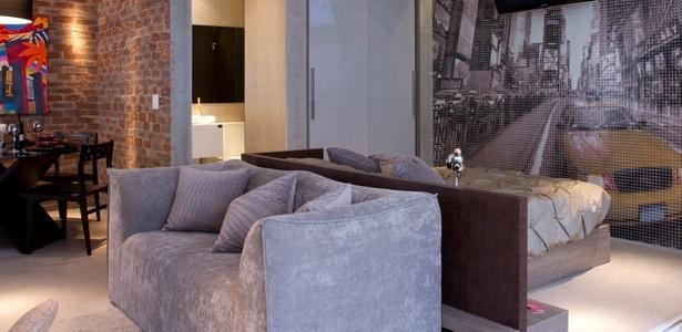 decoracao cozinha loft:Loft de 54 m² tem ambientes delimitados mesmo sem divisões – 26/02