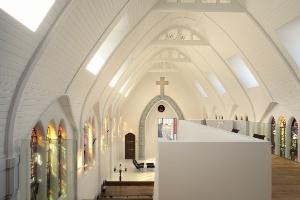 Antiga igreja sem função é transformada em loft minimalista na Holanda - CornbreadWorks