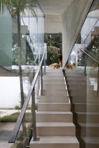 Por este ângulo da escada fica mais fácil ver a
