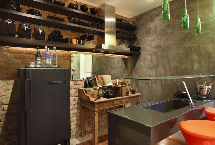 Cozinha do Rapaz criada por Felipe Torres e Jakeline Dutra, da Imagina! Arquitetura, para a exposição