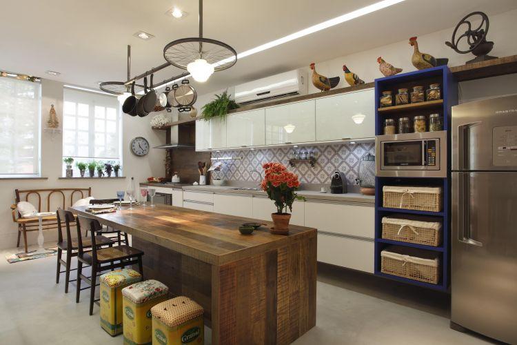 Cozinha com História projetada por Marcelo Possidonio e Bianca Gallo para a exposição