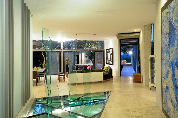 Grande parte dos pisos internos da casa