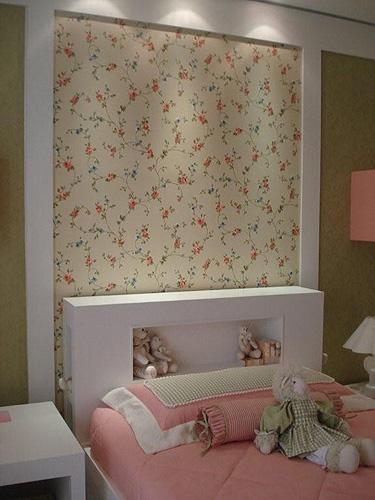 Papel de parede Opções para decorar a casa Casa e  ~ Quarto Casal Com Papel De Parede Floral