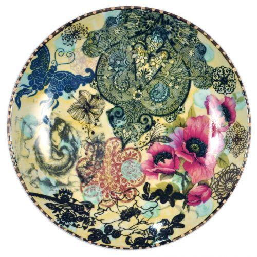 O prato amarelo com rosas da Calu Fontes é feito em cerâmica, com imagens pintadas à mão e decalques. O objeto mede 25 cm de diâmetro. Preço: R$ 400www.calufontes.comPreços consultados em abril de 2011 e sujeitos a alterações