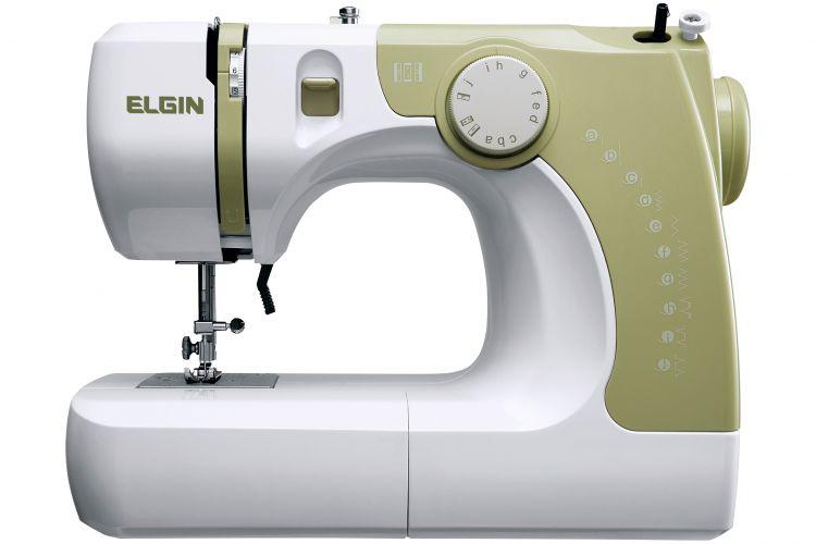 A máquina de costura Supéria JX-2050, da Elgin, possibilita costura reta e em zigue-zague, é bivolt e tem controle de velocidade eletrônico. A marca promete ainda sete pontos úteis e três pontinhos para confecção de lingerie. O manual é em DVD. Preço: R$ 399www.elgin.com.brPreços consultados em abril de 2011 e sujeitos a alterações