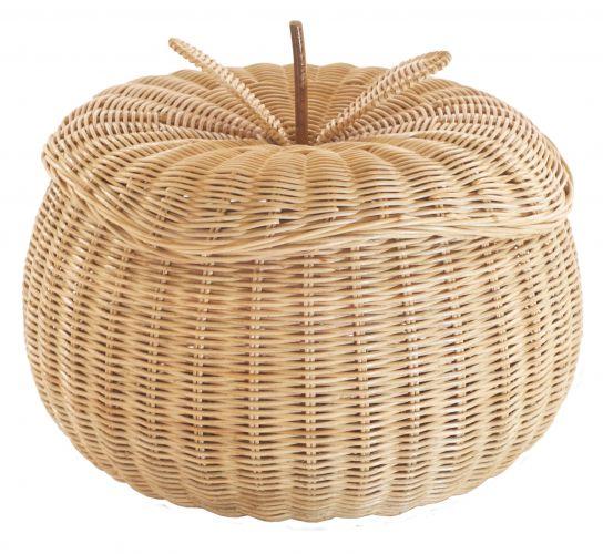 Caixa em forma de maçã mede 35 cm de diâmetro e é feita de ratan. A peça pode ser encontrada na Area Objetos. Preço: R$ 250www.areaobjetos.com.brPreços consultados em abril de 2011 e sujeitos a alterações