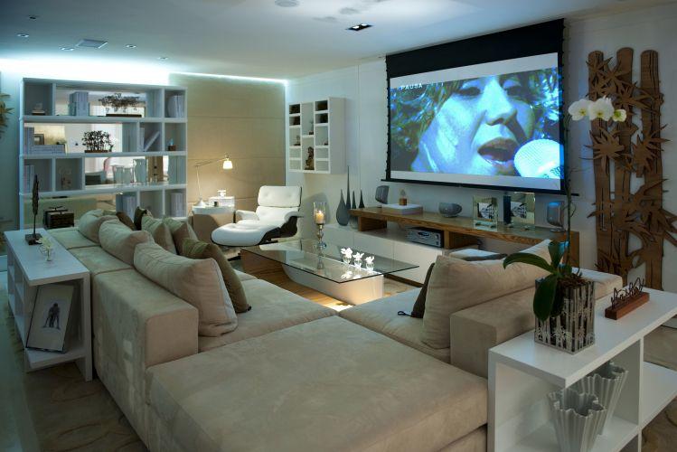 Sala Tv Com Home Office ~ Home theater ideias de projetos confortáveis para assistir à TV