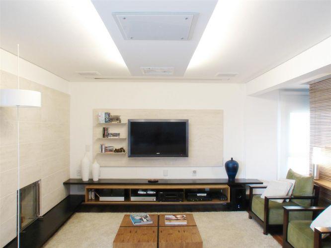 Sala Tv Com Escritorio ~ sala de tv projetada pelo escritório de arquitetura fgmf um