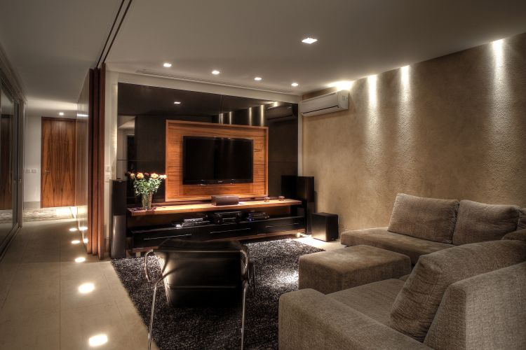 Home theater ideias de projetos confort veis para - Sala home cinema ...