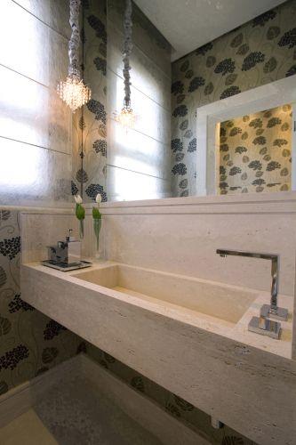 Lavabo projetado por Sueli Adorni. De acordo com o livro lançado pela arquiteta,