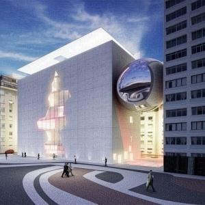 Projeto do escritório Brasil Arquitetura para o concurso que escolheu a nova sede do Museu da Imagem e do Som do Rio de Janeiro