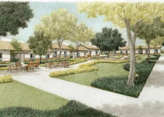 Projeção feita pelo escritório de arquitetura Aflalo e Gasperini para o Vila Dignidade, desenvolvido pela Secretaria da Habitação e Companhia de Desenvolvimento Habitacional e Urbano (CDHU) - Aflalo e Gasperini/ Divulgação
