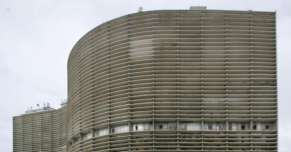 Fachada do edifício Copan, no centro de São Paulo (SP). Projeto do arquiteto Oscar Niemeyer (23/03/2006)