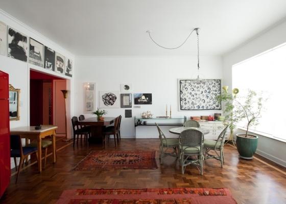 Em imóveis alugados, vale a pena investir em boas peças de mobiliário, tapetes, luminárias: coisas que você pode levar junto quando tiver de mudar de novo