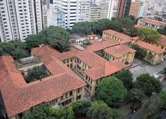 O prédio do Hospital Umberto Primo, na região da Avenida Paulista, em São Paulo (SP)