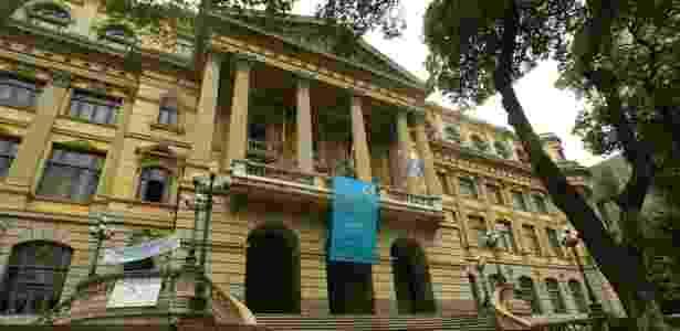 Fachada do prédio da Biblioteca Nacional na avenida Rio Branco, no centro do Rio de Janeiro (RJ) - Ana Carolina Fernandes/Folha Imagem