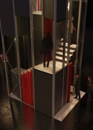 Spiral Booths, obra do arquiteto Carlos Teixeira para mostra no Victoria & Albert Museum - Divulgação