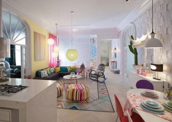 """""""Atreva-te se podes"""", ambiente criado por Encarna Romero Barella para a Casa Madri 2010, em Madri, convida os visitantes a ultrapassar as rígidas fronteiras do bom gosto convencional"""