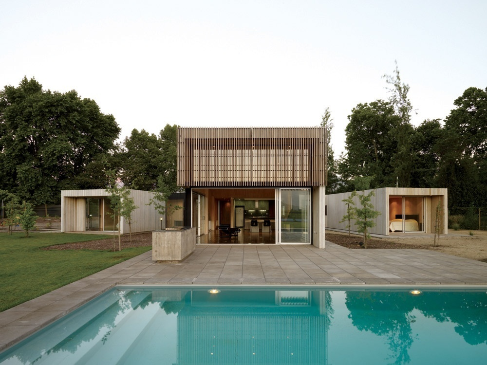 Casa Finger Joint, no Chile, projeto arquitetônico de LAND Arquitectos