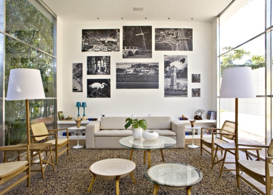 Lounge Lúcio Costa, criação de Elaine Carvalho para a Casa Cor Campinas 2010 - Divulgação