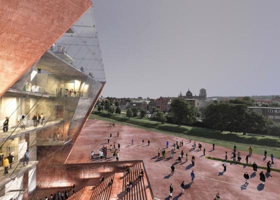 A construção do complexo avaliado em US$ 36 milhões deve começar em 2012 e a inauguração está prevista para 1º de setembro de 2014, aniversário de 75 anos do início da Segunda Guerra - Studio Architektoniczne Kwadrat / Divulgação