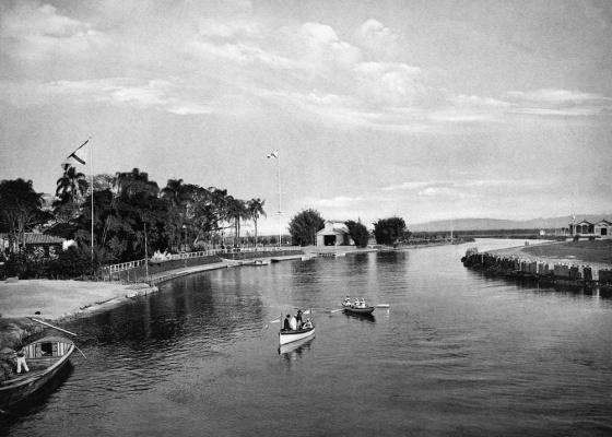 Vista do rio Tietê em 1905, antes de ser retificado e poluído - Guilherme Gaensly / Divulgação