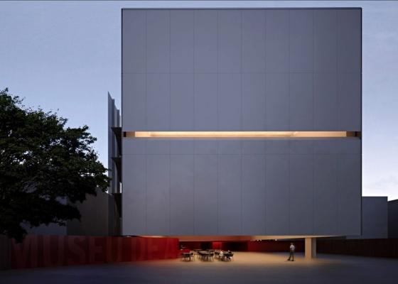 Perspectiva eletrônica do Museu de Arte Moderna de Santos, de Paulo Mendes da Rocha e Metro Arquitetos. O projeto será apresentado ao público no próximo dia 29 de setembro - Metro Arquitetos / Divulgação