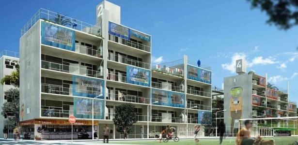Projeto vencedor do 1º lugar na categoria Edifícios de 4 pavimentos no concurso Moradia para Todos, promovido pela CDHU e IAB-SP