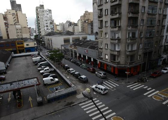 Área entre a Alameda Barão de Limeira, Rua dos Gusmões e Rua Conselheiro Nébias, que será remodelada no projeto Nova Luz (17/11/2010)