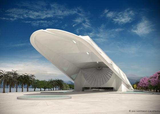 Perspectiva do Museu do Amanhã, projetado por Santiago Calatrava - Divulgação